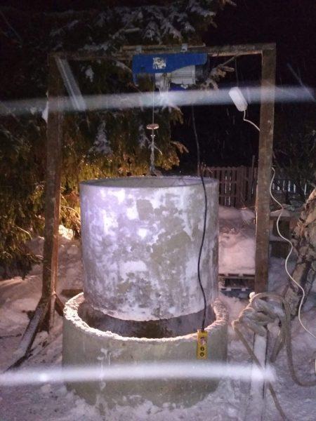 Демонтаж ремонтного ЖБИ кольца